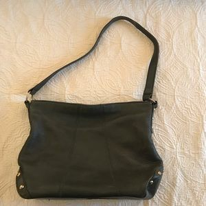 Green leather purse good condition gold hardware